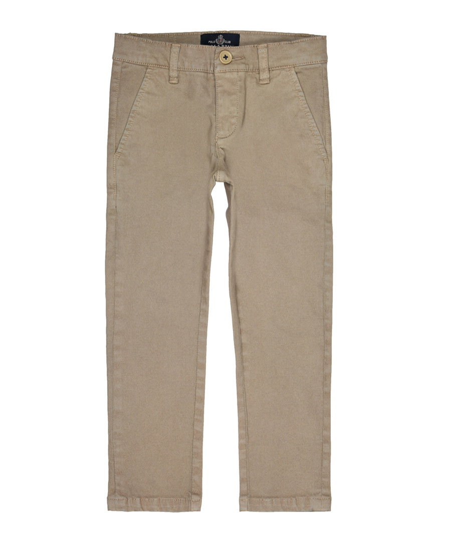 Taupe cotton blend trousers  Sale - polo club st. martin