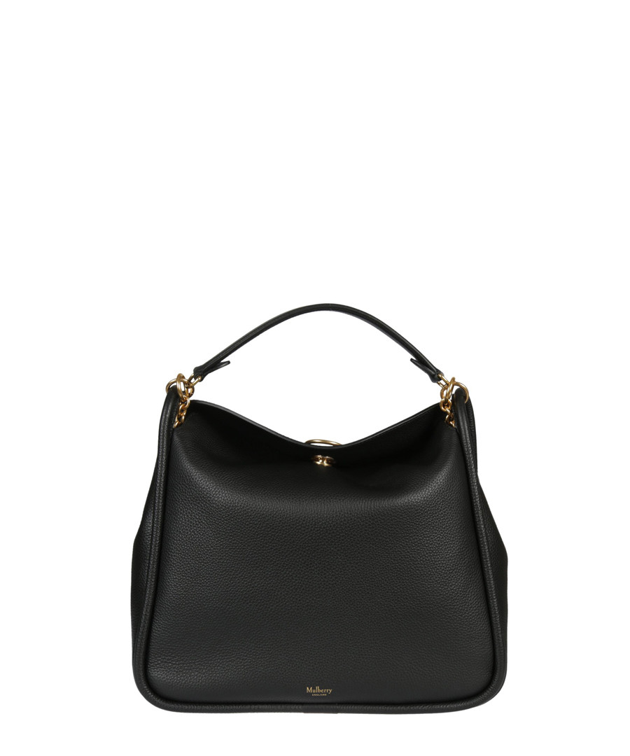 Leighton Small black leather shoulder bag Sale - MULBERRY