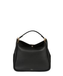Leighton Small black leather shoulder bag