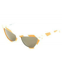 Amber & white stripe angular sunglasses