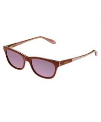 Burgundy & purple D-frame sunglasses