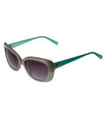 Teal & grey sunglasses