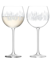 2pc Fir wine glass set