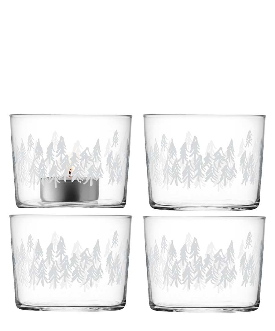 4pc Fir tealight holder set 6cm Sale - lsa
