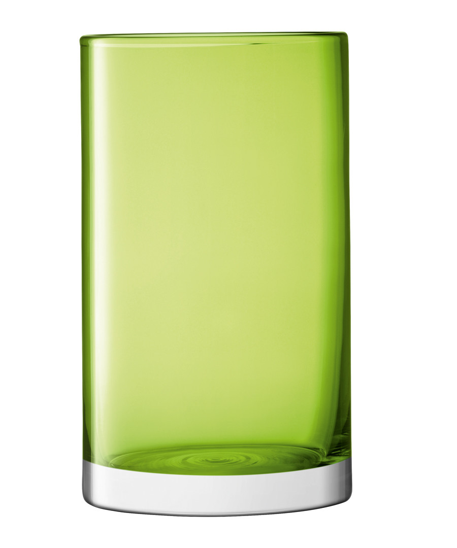 Lime green glass vase 25cm Sale - lsa