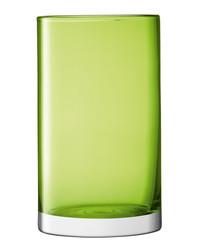 Lime green glass vase 25cm