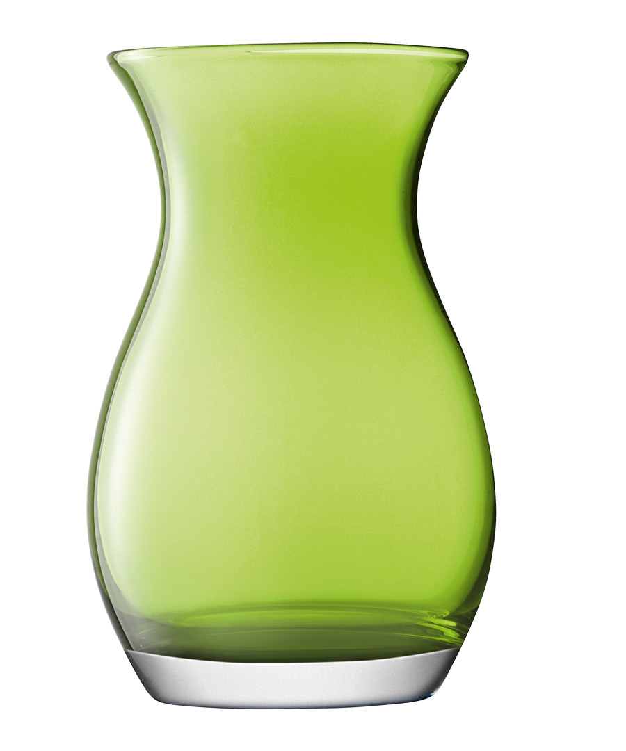 Lime green glass vase 20cm Sale - lsa