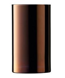 Bronze-tone glass cylinder vase 25cm