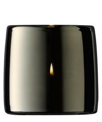 Metallic glass tealight holder 8.5cm