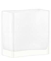 Modular white glass vase 20cm