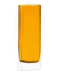 Modular amber glass tall vase 30cm