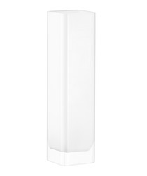 Modular white glass tall vase 40cm