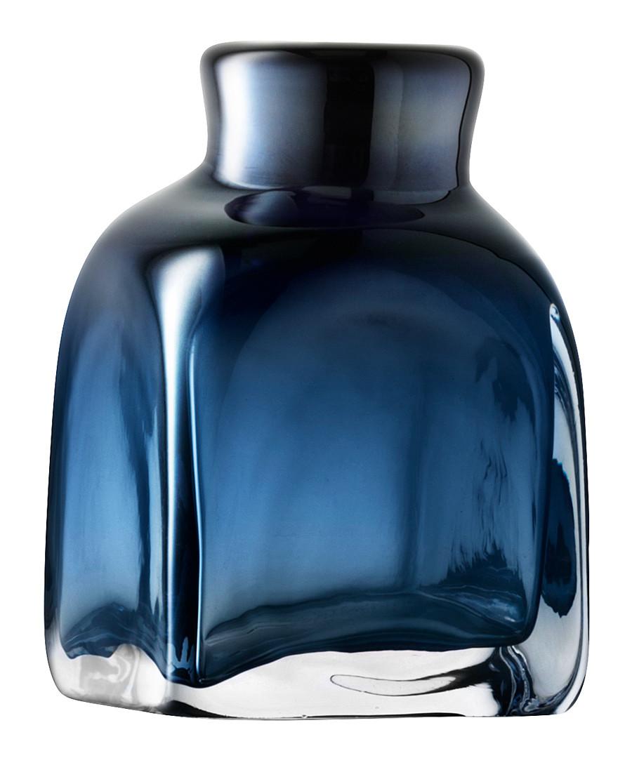 Taffeta Vase H17cm Sapphire Blue Sale - lsa