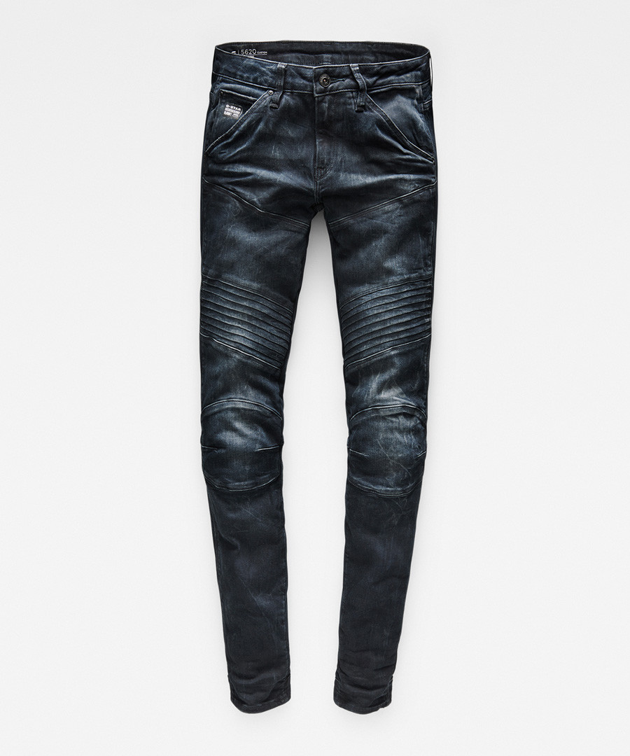 5620 Custom dark blue mid skinny jeans Sale - g-star
