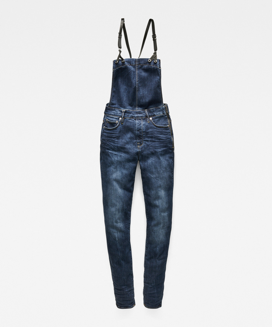 3301 dark blue skinny overall Sale - g-star