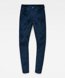 3301 dark blue high waist skinny jeans