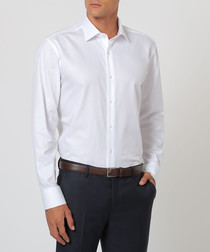 White pure cotton formal shirt