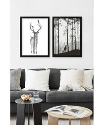 2pc framed painting prints