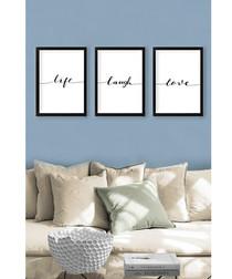 3pc slogan framed print set