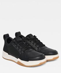 Rackam black low-top lace-up sneakers