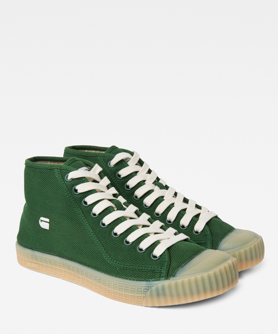 Rovulc deep green mid-top sneakers Sale - g-star