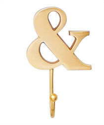 Gold-plated & symbol hook