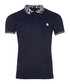 Navy & animal print cotton polo shirt Sale - roberto cavalli Sale