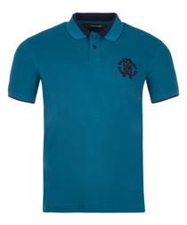 Marine cotton emblem polo shirt