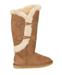 Nordic chestnut shearling boots