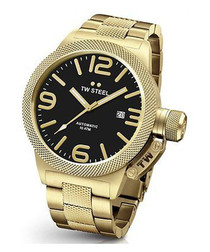 Black & gold-tone stainless steel watch