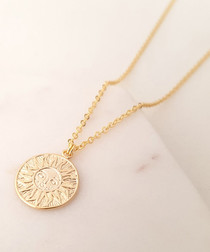 14k gold-plated sun pendant