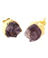 14k gold-plate amethyst stud earrings Sale - fleur envy Sale