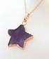 Rose gold-plate & amethyst star pendant Sale - fleur envy gaia Sale