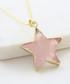 Gold-plate & rose quartz star pendant Sale - fleur envy gaia Sale