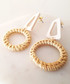 Natural resin & rattan wreath earrings Sale - fleur envy Sale
