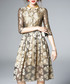 Gold-tone semi-sheer dress Sale - yyfs Sale
