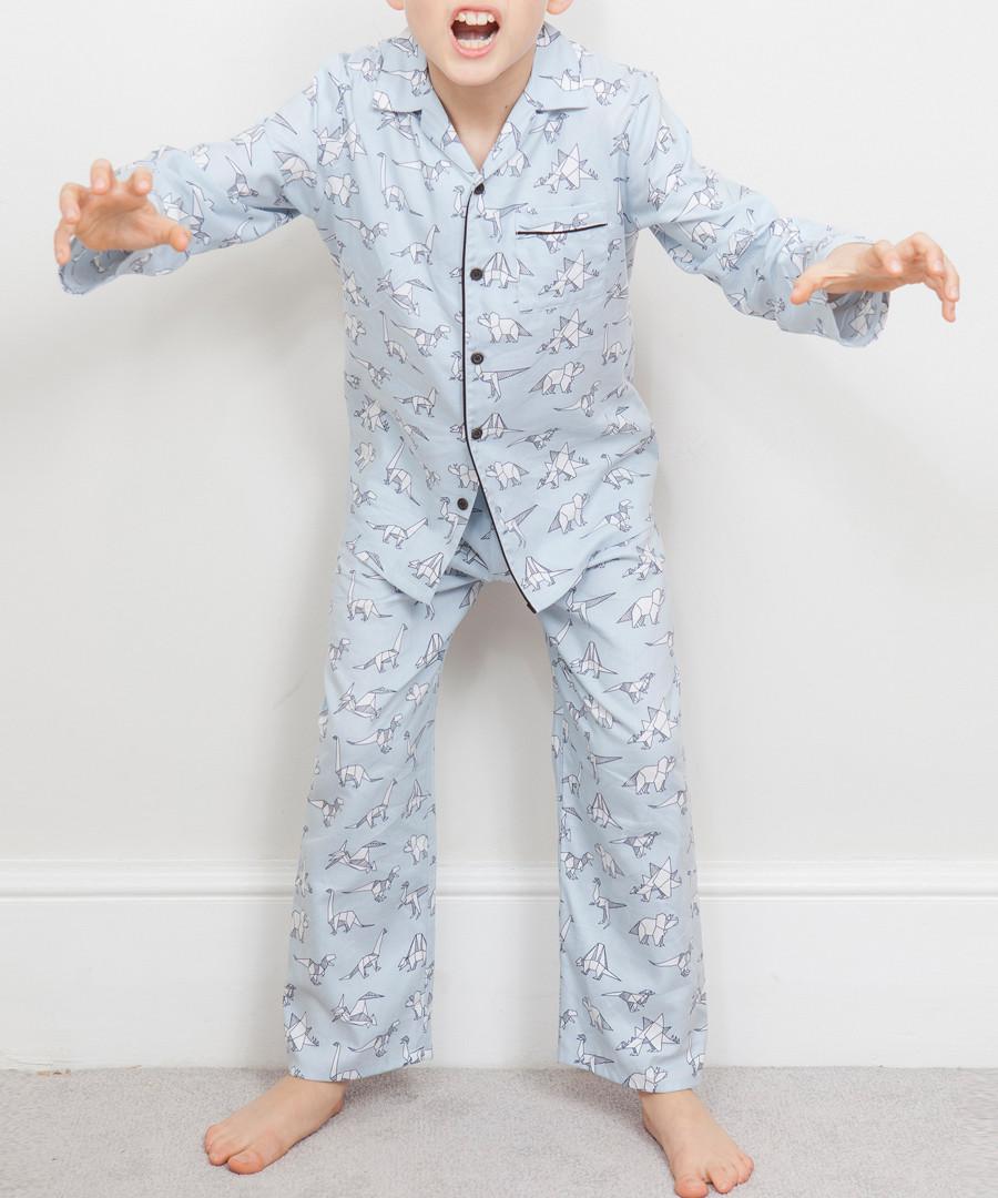 Boys' Oliver grey origami pyjama set Sale - cyberjammies
