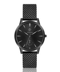 Black steel & matte black bezel watch