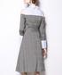 Grey check cold-shoulder shirt dress Sale - yyfs Sale