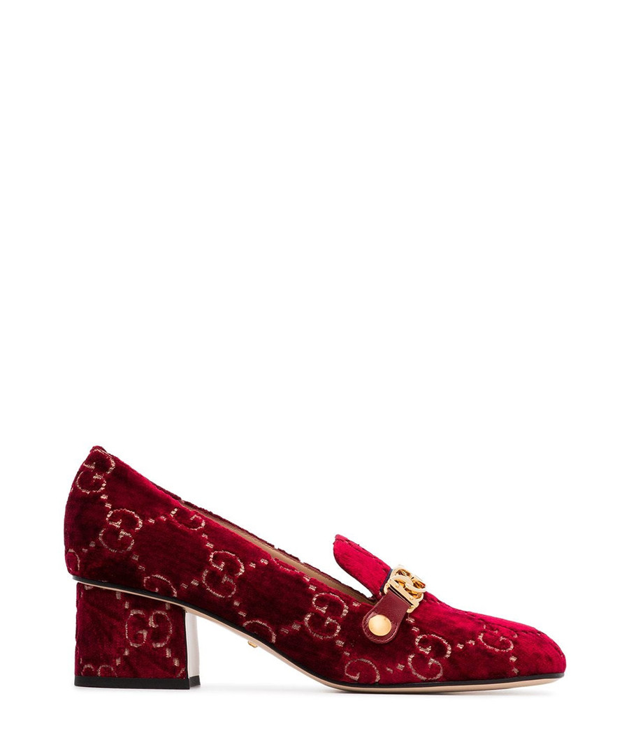 Red Sylvie velvet & leather loafers Sale - gucci