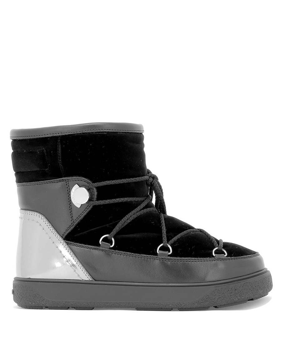 Stephanie black velvet ankle boots Sale - moncler