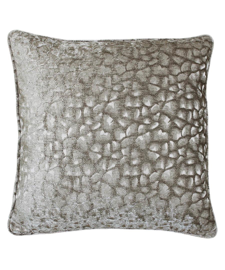 Compton mink velvet cushion 45cm Sale - riva paoletti