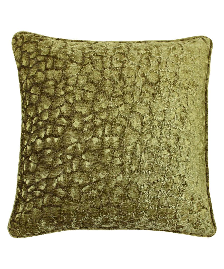 Compton olive velvet cushion 45cm Sale - riva paoletti