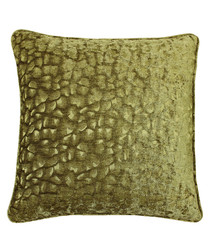 Compton olive velvet cushion 45cm