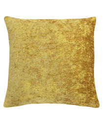 Hampton ochre cushion 50cm