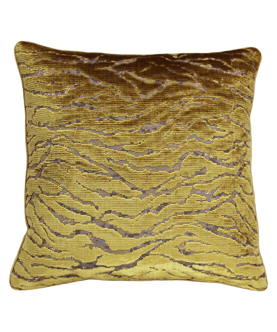 Walton gold velvet cushion 45cm Sale - riva paoletti