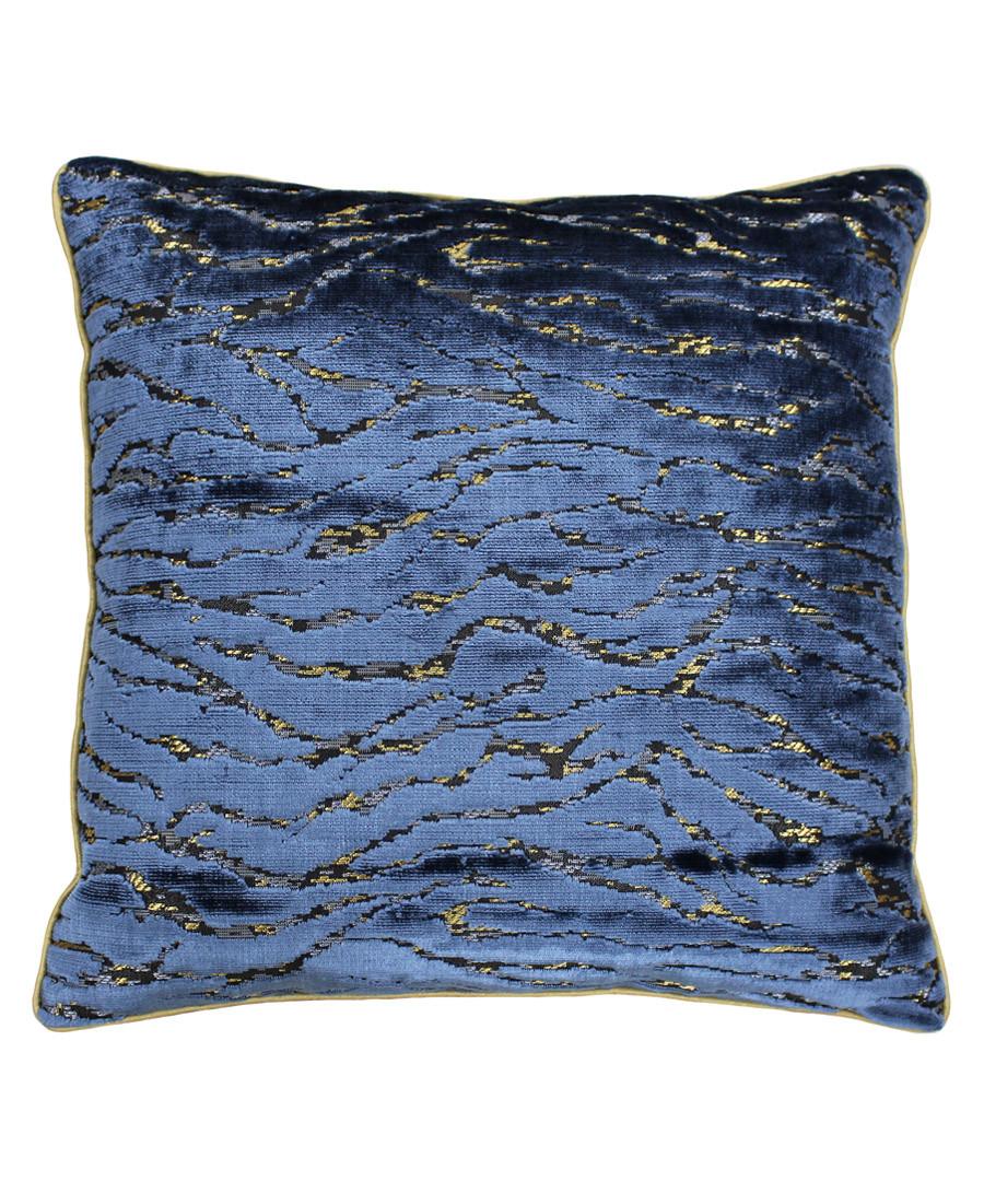 Walton navy velvet cushion 45cm Sale - riva paoletti