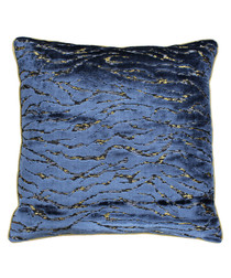 Walton navy velvet cushion 45cm