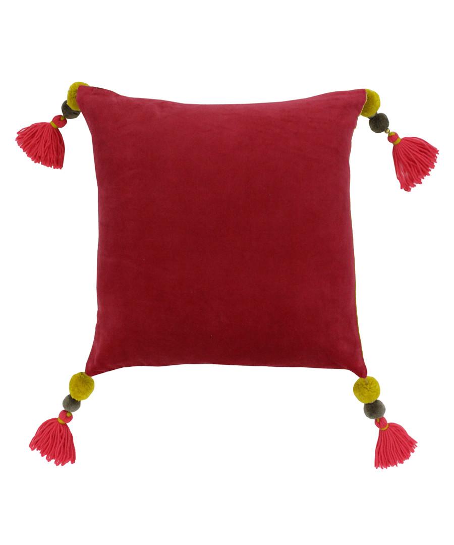 Poonam pomegranate tassel cushion 45cm Sale - riva paoletti
