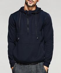 Navy half-zip hoodie